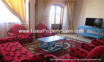 Apartment for rent in Luxor superb Nile view Ramla west bank Luxor
