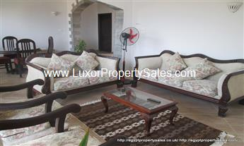 Luxury third floor 3 bedroom apartment for rent in Luxor Nile view Ramla