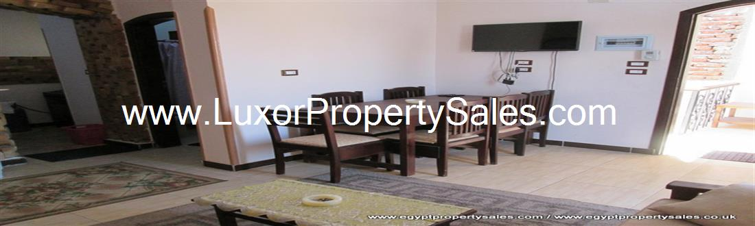 Apartment for sale for rent with stunning views Nile view west bank Luxor  Egypt