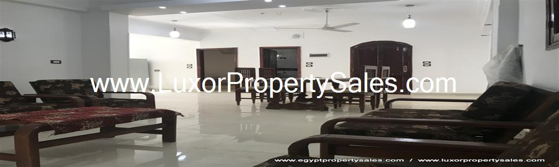 Exceptional spacious 2nd floor furnished apartment to West Bank Luxor for sale
